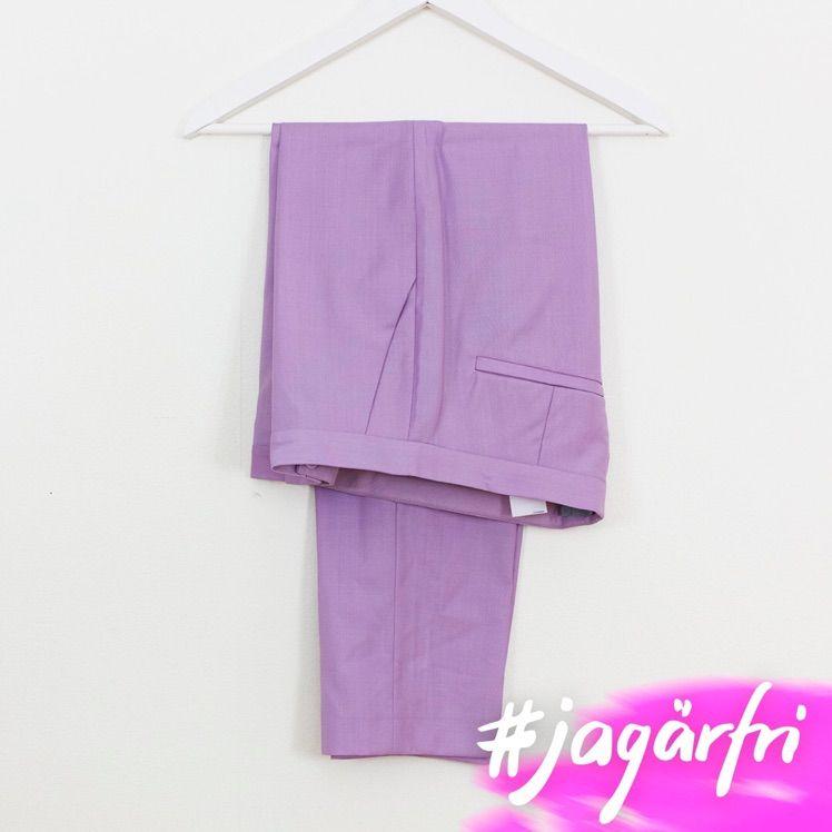 Pastell-lila fina byxor ifrån COS. Som nya. . Jeans & Byxor.