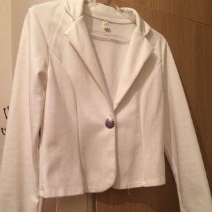 White thin cardigan
