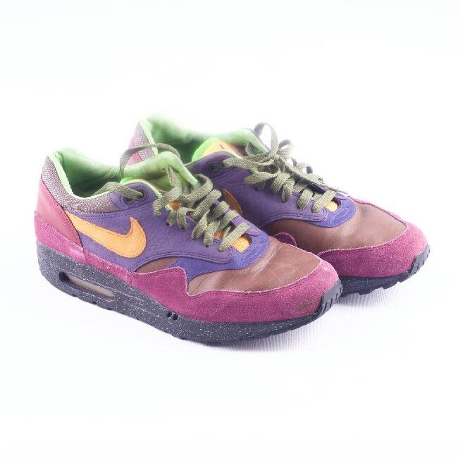 purchase cheap b116e b08c6 Retro Nike Air Max i mocka läder. Lila, brun sko med orangea och ...
