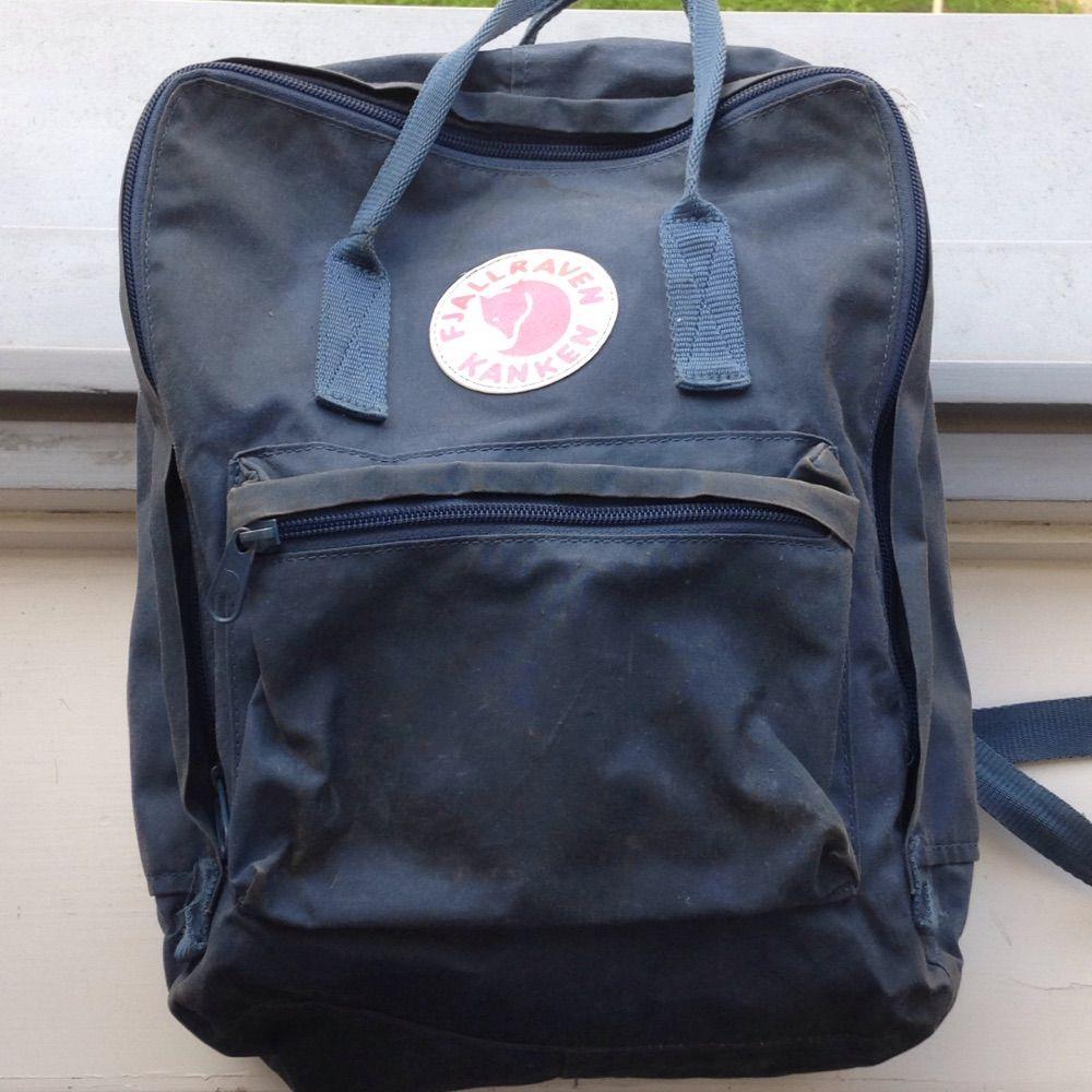 Blå kåken ryggsäck från Fjällräven! Använd men inte sliten. . Väskor. eed4c08b577cd