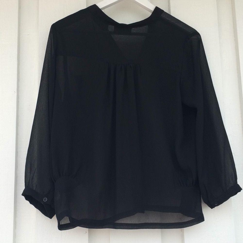 Svart blus, äkta DKNY,  knappt använd . Blusar.