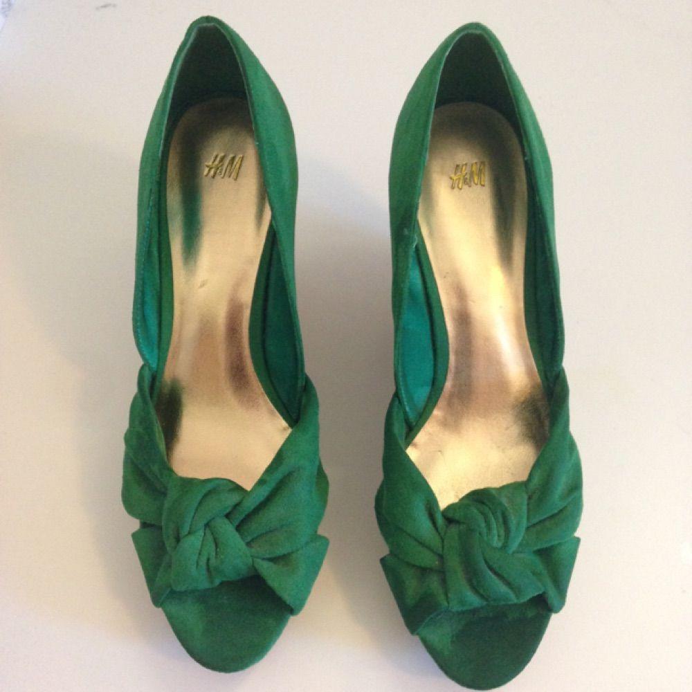 Gröna högklackade skor från HM - H M Skor - Second Hand dec1b529b943a