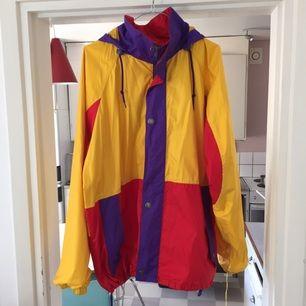 Multicoloured rain jacket