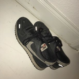 Nike skor stl 42! Har använt dom ganska mkt förr i tiden så dem ser inte helt nya ut men finns inga hål lr liknande skador på skorna... :-)
