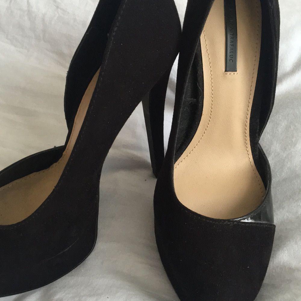 58b2ca7be41 ... sorte højhælede sko i ruskind fra Zara. brugt dem en gang ved et  bryllup,