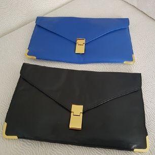 kuvertväska svart och blå från åhlens. 75 för svart 100 för blå