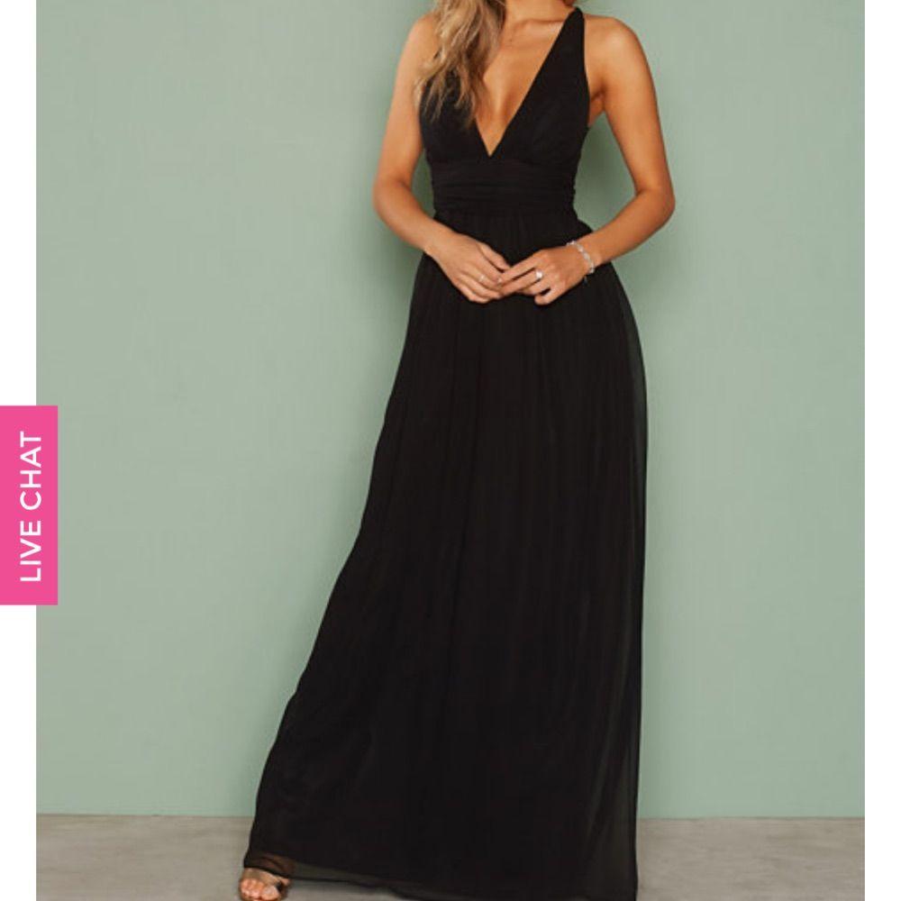 5091fb2b7b7a Helt ny svart klänning från Nelly. Strl 36. Lappar finns kvar.