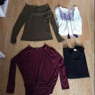 Klädpaket med massa olika kläder så som klänningar, shorts, bikini, Jacka/väst M.m. Allting är i stl M /38-40. Om ni vill ha bilder på något speciellt så bara fråga. Det är 26 plagg. 450 eller bud