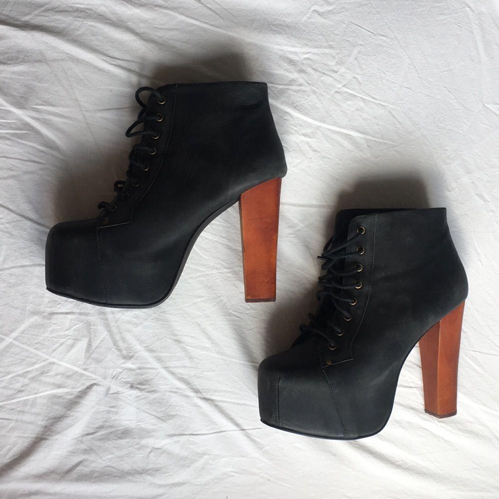 Äkta Jeffrey Campbell Lolita skor. Äkta läder. 🌸 I jättefint skick förutom  2st några ... c7e2be019e6b0