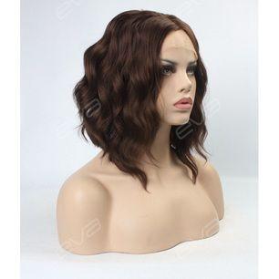 Brun peruk från EvaHair, använd 1 gång, lace front.