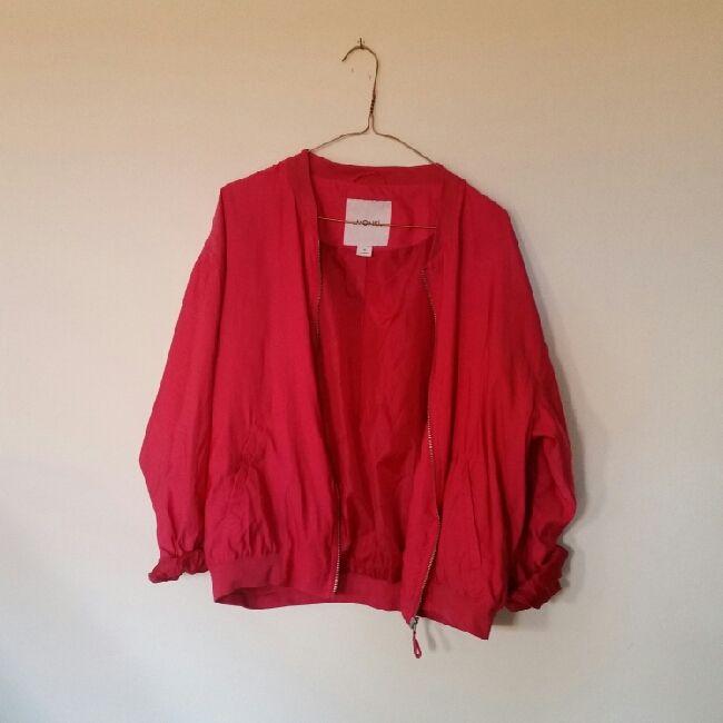 💖 knallrosa tunn jacka från monki, knappt använd. . Jackor.