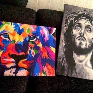 Hej!  Jag är konstnär och jag har nu tryckt upp två av mina porträtter i canvasduk. Dessa finns nu till salu! Priset är 800kr styck. Är ni intresserade utav andra storlekar eller bilder, vänligen skicka ett meddelande till mig :)