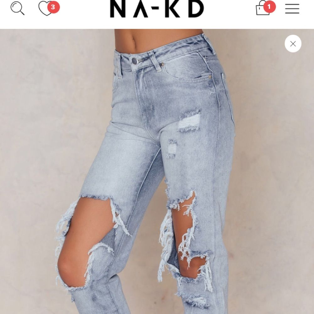 Snygga byxor från Nakd i fint skick! Nypris 599! Frakt tillkommer . Jeans & Byxor.