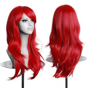 Otroligt fin röd peruk