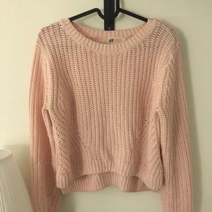 Rosa stickad tröja 60kr ink frakt!!