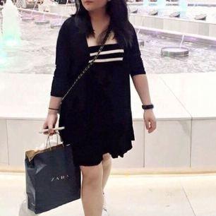 Black & White Loose Mini Dress
