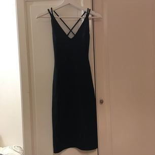Black dress from BikBok with accent stripes across the back and the shoulders. Never been used. Perfect condition. Size XS