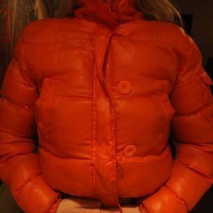 En orange bomberjacka/dun.
