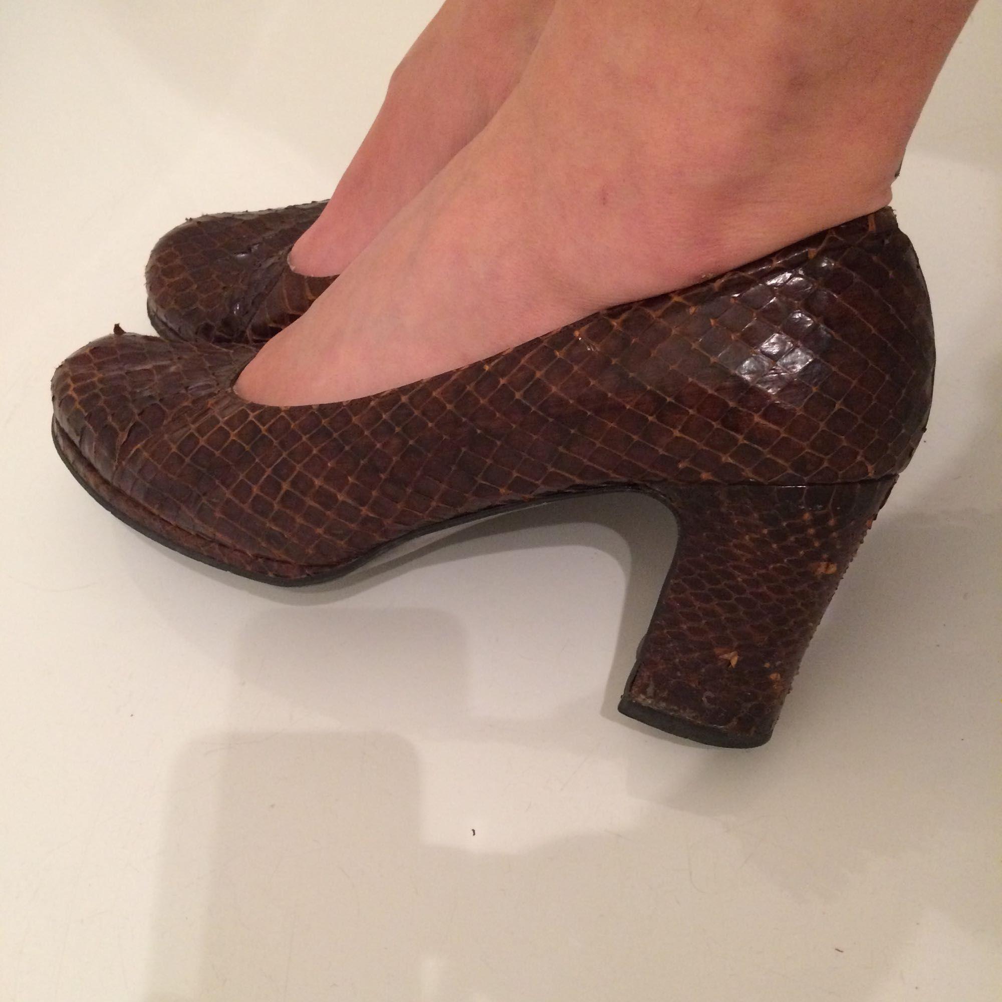 Äkta ormskinn skor! 6 cm klack - Skor - Second Hand 40690263370f7