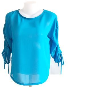 Long Sleeve Shirt Bust / Size 40 (39-40) Available Delivery Length / length 57 cm Blue tone Good quality fabric. Quality sewing