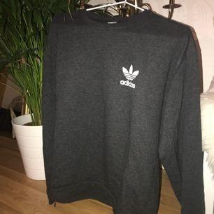 🌼 fejk-adidas sweatshirt i mörkgrå färg. fint skick 🌼