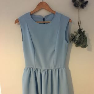 Home made crepe de chine dress in gorgeous pale blue. Retro / vintage style. Lined bodice, soft and silky feel. Hidden zip. Only selling because I made it too big for me!