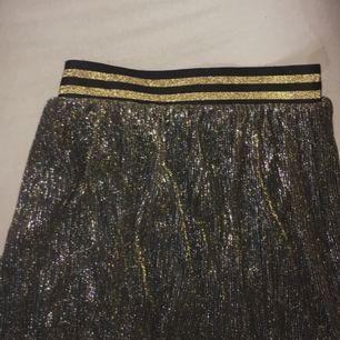 Väldigt glittrig, supersnygg kjol! Lite kortare än knäna.