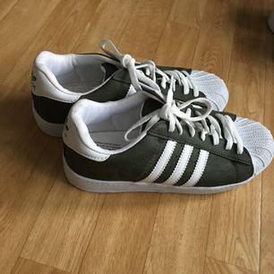 Adidas superstar AAA kopia. Superbra skick i mörkgrön nyans