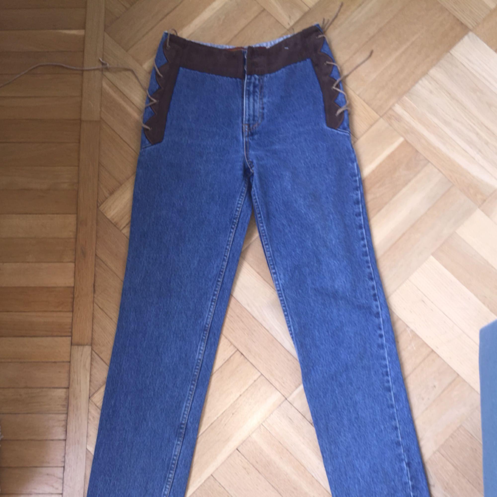 """""""Western"""" jeans köpta på Beyond Retro, säljer pga för små i midjan (jag har 27 i midjan). Kan fraktas. Jeans & Byxor."""
