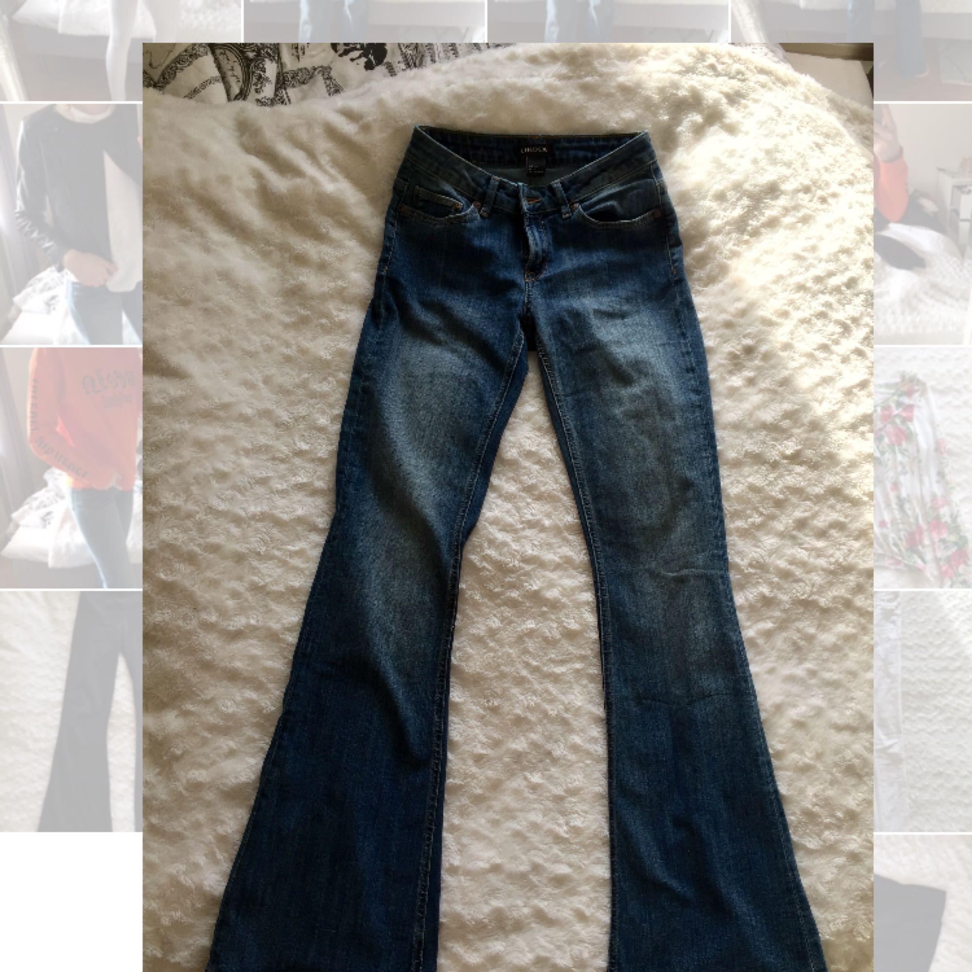 ... Helt nya Mellan blåa bootcut jeans från Lindex. Prislapp är borta men  har aldrig använt 72d6204616549