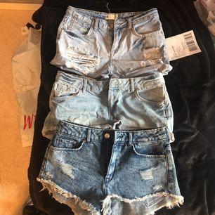 Tre jeansshorts för 100 kr! Alla i 34-36!