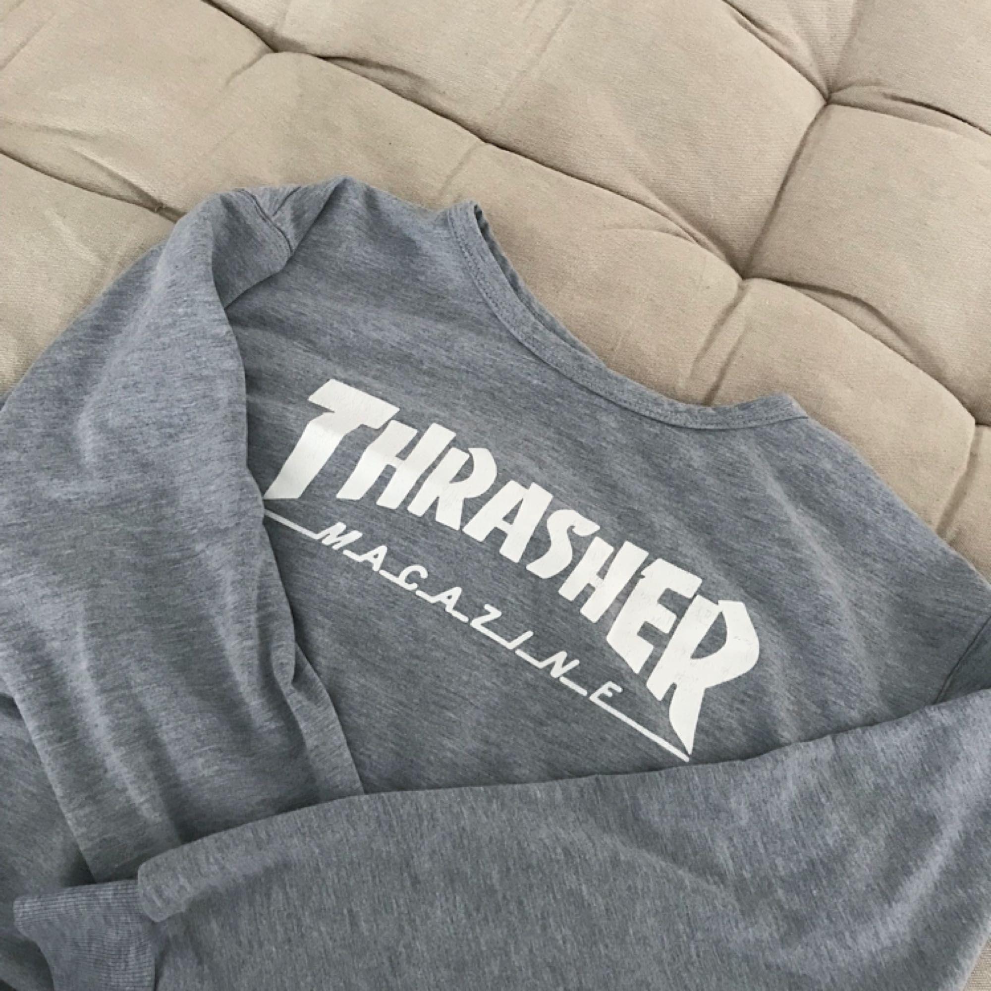 Äkta sweatshirt ifrån trasher! Köpt här på plick men aldrig kommit till användning.. +frakt 35kr🌹. Huvtröjor & Träningströjor.