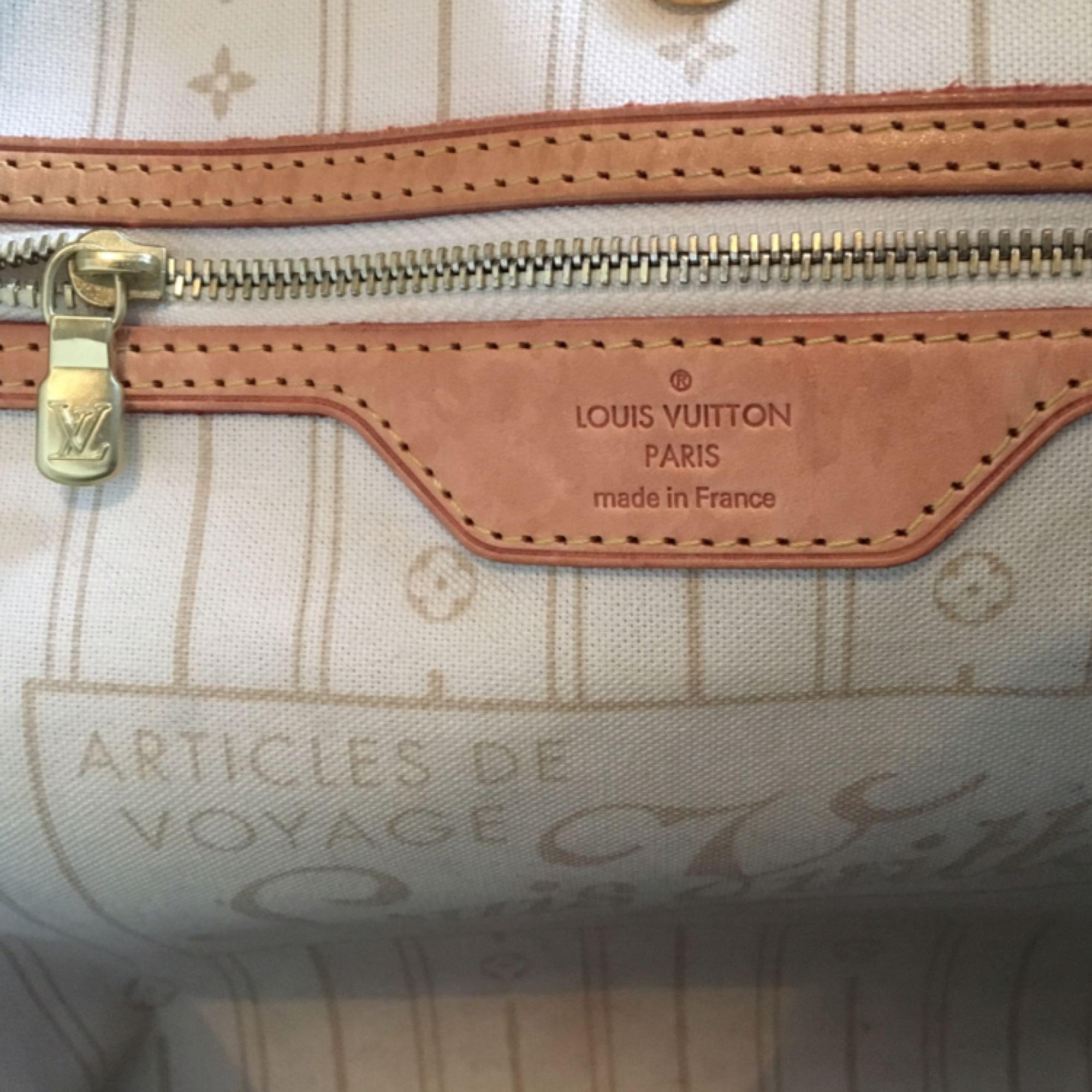 44e98cff524a5 Nicht so viel Echter Louis Vuitton Neverfull Azurblau