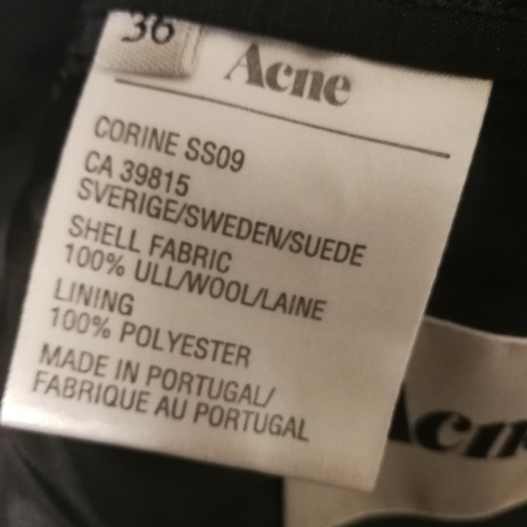 e1ceaad08f9 Svart kavaj från Acne i stl 36. Modellen heter Corinne och är från SS09.