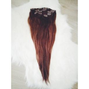Säljer mitt chokladbruna äkta löshår från rapunzel. Använd endast en gång på min 25års fest förra året. Regelbundet tvättat med balsam och hårinpackning. 🎊 Löshåret är 50cm. 💞