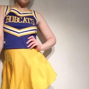 Cheerleading-set. Tröjan är i fin skick, men kjolen är fläckig och har ett brännmärke, så den följer mest med för att det är synd att separera delarna.