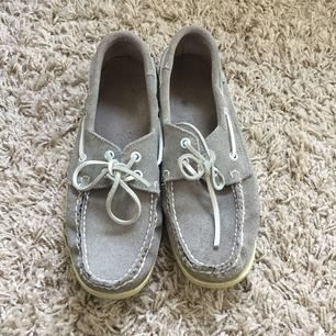 Sebago sandy grey docksides, light stain as on pic on one of them