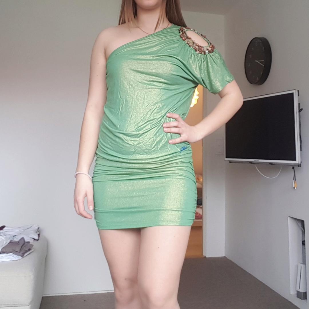 27633c920f08 Grøn boheme kjole fra MET