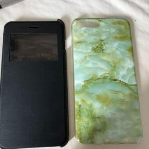 2 st iPhone 7 Plus skal. Flip case- 30 kr+frakt Marmor skal-20 kr+frakt