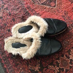Zara fur lined slides