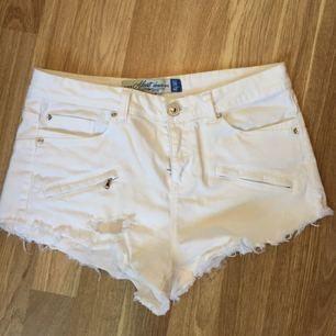 Vita shorts som är ripped!