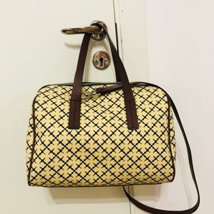Stylish bag from By Malene Birger. The bag is made in their iconic Arabic pattern. the bag used a few times !! It's great in the condition.  H:23 cm W:31 cm D19: cm  I have swish, and have more pictures if u need.