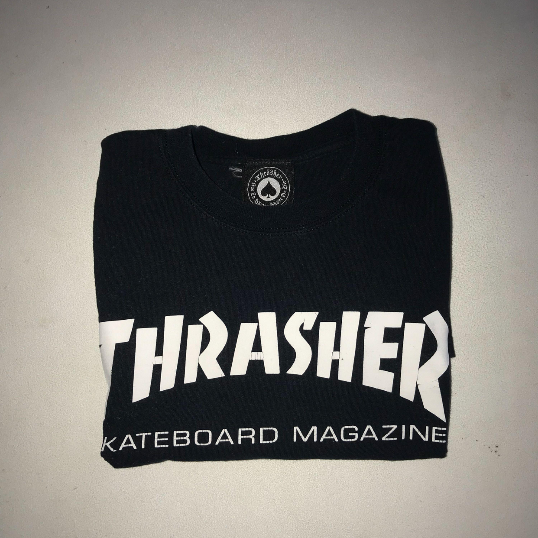 Säljer äkta Thrasher t-shirt! Köparen betalar frakt. T-shirts.
