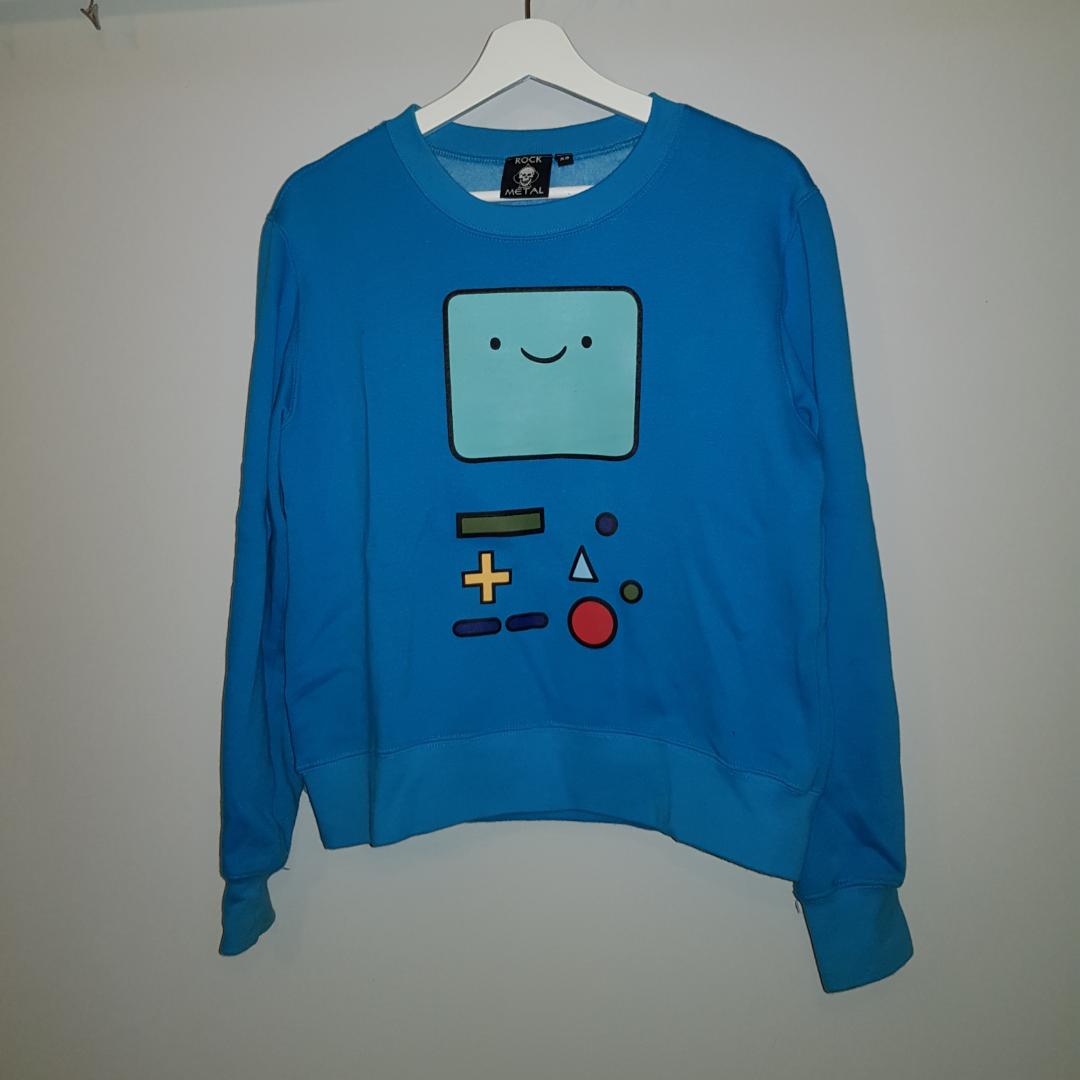 Söt Beemo tröja med tryck på båda sidorna💙. Huvtröjor & Träningströjor.