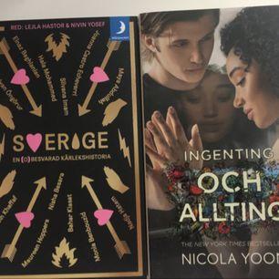 Två nya och fräscha böcker! 140kr för sverige och 180kr för ingenting och allting.