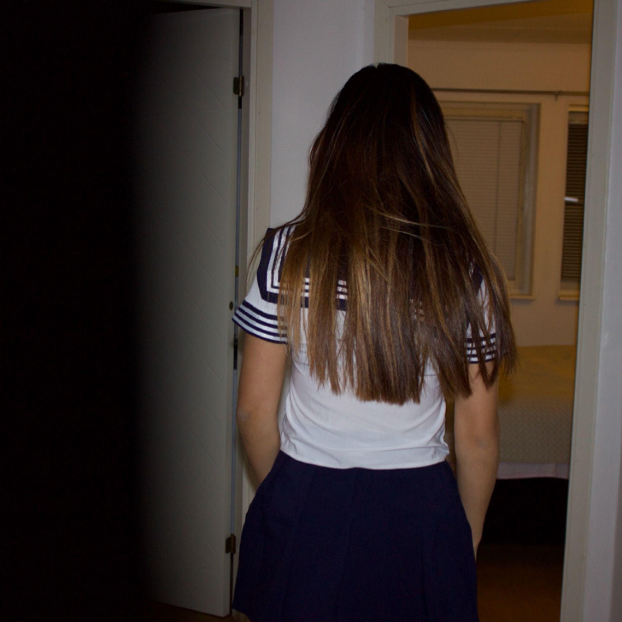 Japanese school girl outfit. Använd två gånger och är fortfarande i gott skick.  Storlek S. Kostymer.
