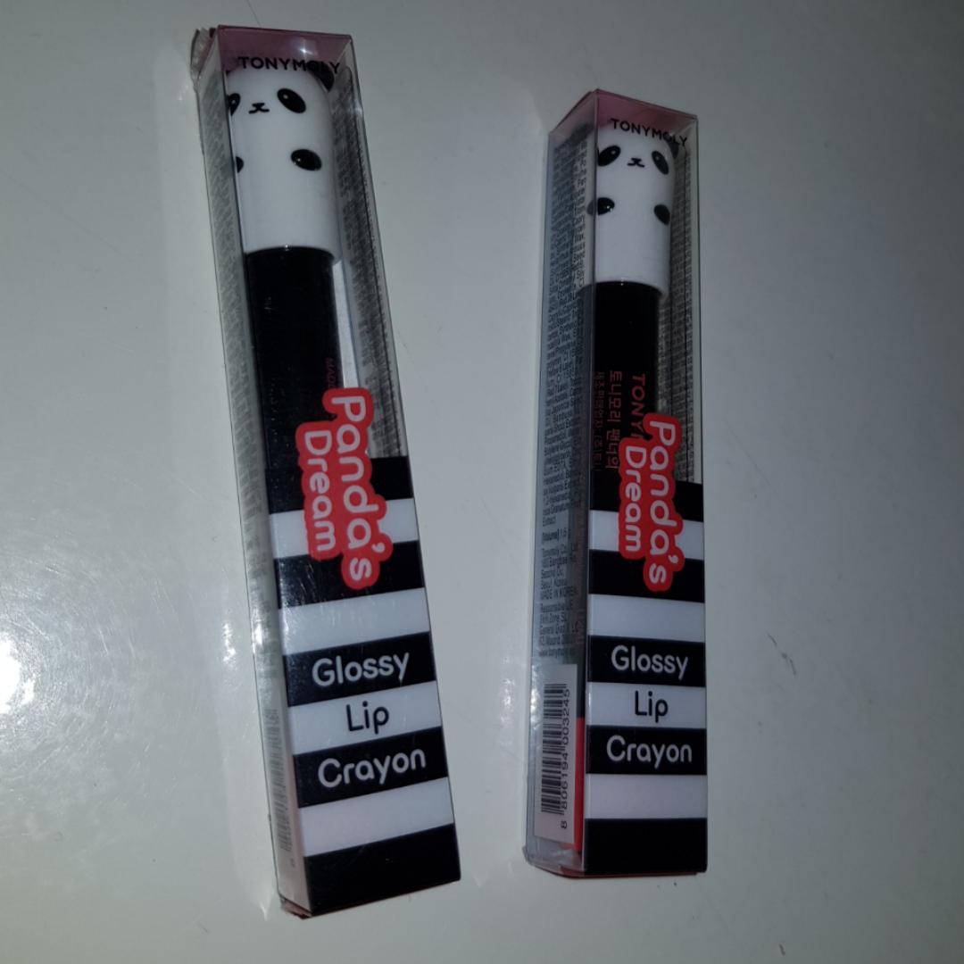 Säljer 2st lip crayons från TonyMoly. Ena är endast swatchad, säljes pga att det inte var min färg🌸. Övrigt.