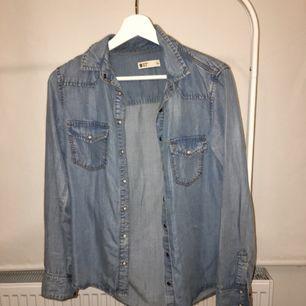 Jeansskjorta, stl 34