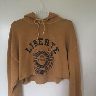 Urban outfitters senapsgul crop-hoodie