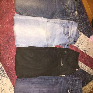 Säljer jeans från strl 140 till xs priser från 50-100kr